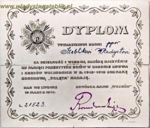 """Dyplom-legitymacja odznaki pamiątkowej """"Orlęta"""""""