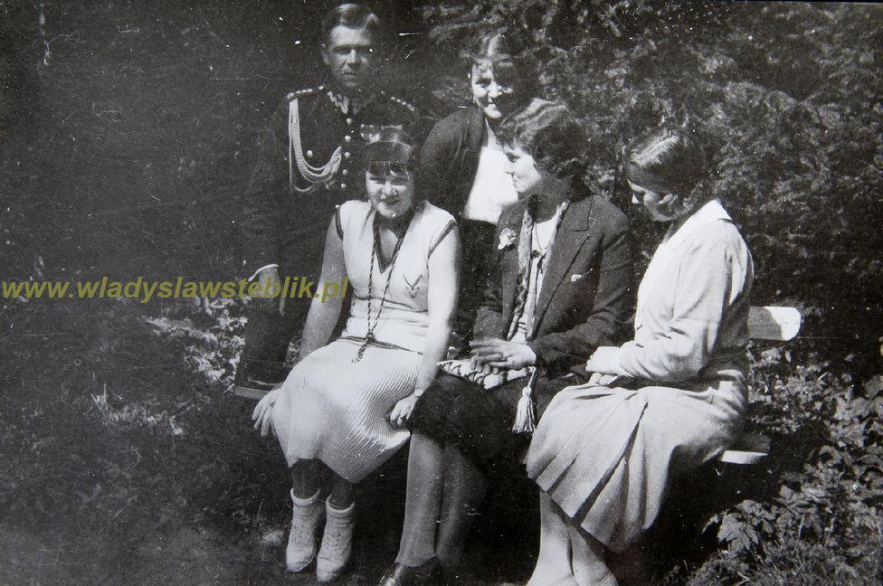 ok 1931 - Władysław Steblik z żoną i przyjaciółkami