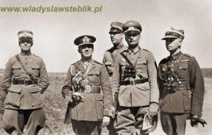 1935 - manewry Wermachtu w rejonie Kłodzka. Pierwszy od prawej W. Steblik