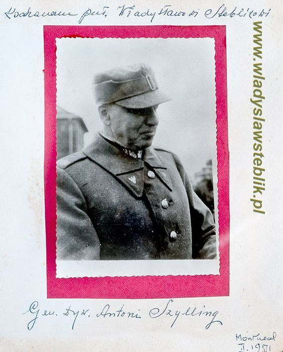 Dedykacja gen Szyllinga dla Władysława Steblika