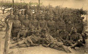 Towarzysze broni z 56 CiK pułku - 7 kompania na froncie włoskim