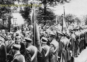 Pogrzeb ppłk Władysława Steblika 1971 rok.