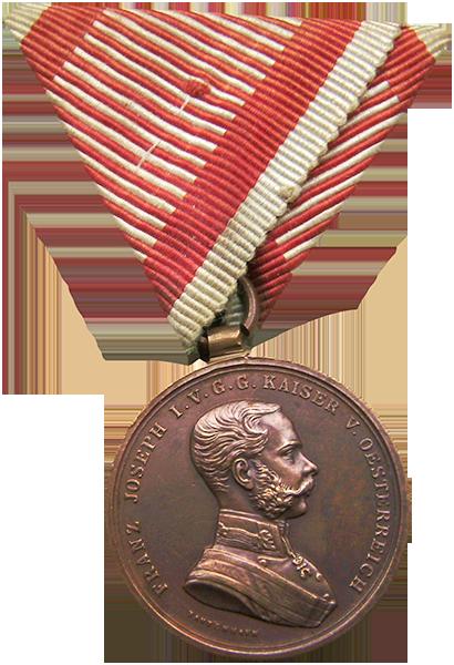 Brązowy Medal Waleczności Źródło: wikipedia licencja: CC-BY-SA 3.0